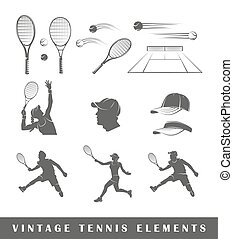 Set tennis silhouettes