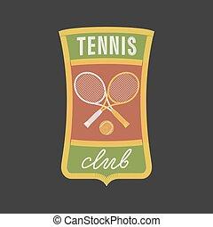 Vintage tennis sports vector logo