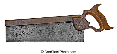vintage tenon back saw - vintage tenon saw with cooper back...