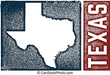 Vintage Texas State Sign - Distressed vintage style sign...
