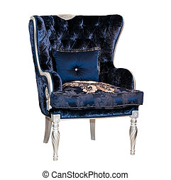 Vintage textile blue chair