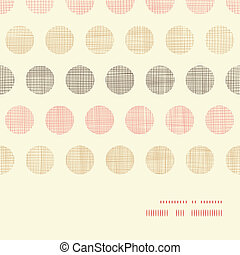 Vintage textile polka dots horizontal frame seamless pattern background