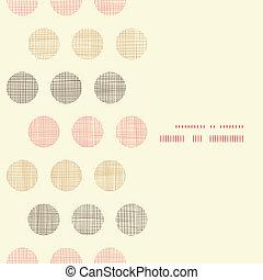 Vintage textile polka dots vertical frame seamless pattern...