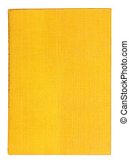 Vintage textile yellow book on an isolated white background