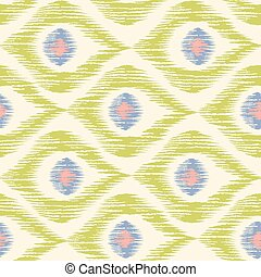 Vintage texture in ikat pattern