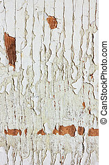 Vintage texture of old paint and bare wood.