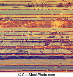Vintage texture, old style frame decoration with grunge graphic elements and different color patterns: yellow (beige); brown; blue; red (orange); gray; purple (violet)