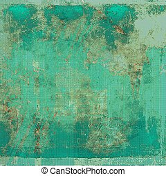Vintage texture, old style frame decoration with grunge graphic elements and different color patterns: brown; green; blue; gray; cyan