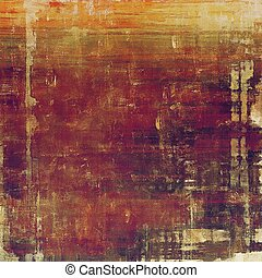 Vintage texture, old style frame decoration with grunge graphic elements and different color patterns: yellow (beige); brown; red (orange); gray; purple (violet); pink
