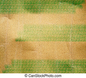vintage texture paper background with green painted