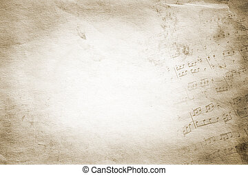 vintage texture - retro music on grunge toned paper texture