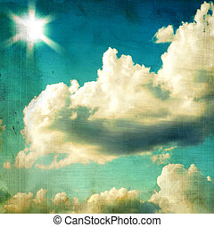 vintage textured background - sky