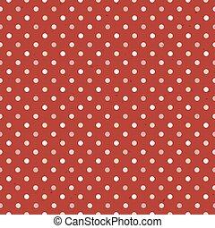 Vintage Textured Polka Dot Seamless Pattern