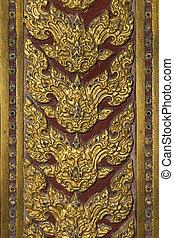 Vintage Thai art on the background