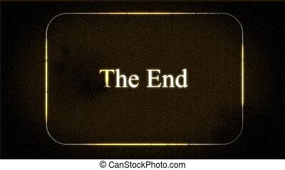 vintage 'the end' footage