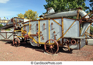 threshing machine - Vintage threshing machine (thresher) in...