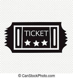 Vintage Ticket Icon