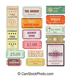 Vintage Tickets Illustration