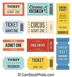 Vintage Tickets in different style