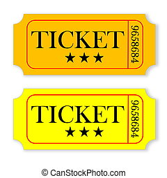 Vintage tickets - Orange and yellow vintage tickets isolated...