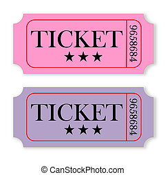 Vintage tickets - Two pink and violet vintage tickets...