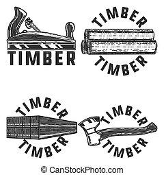 Vintage timber emblems