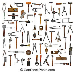 vintage tools collage - vintage collectible tools collage...