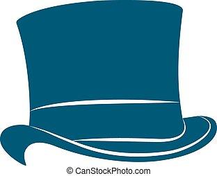 Vintage top hat label. Top hat illustration.
