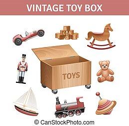 Vintage Toy Box Set
