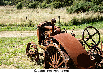 Vintage tractor, abandoned.