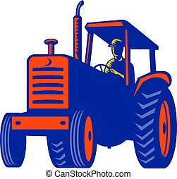 vintage-tractor-pulling-front-retro