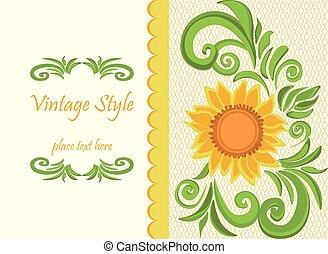 Vintage traditional Invitation card