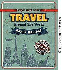 Vintage travel poster design