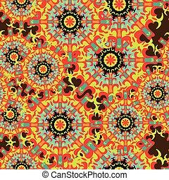 vintage tribal seamless color pattern