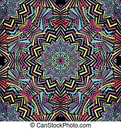 vintage tribal seamless pattern vector illustration