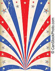 Vintage tricolor poster