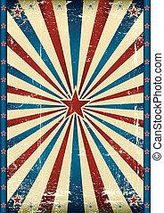 Vintage tricolor star background.