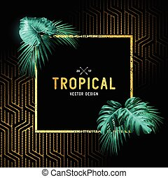 Vintage tropical Design