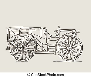Vintage truck sketch
