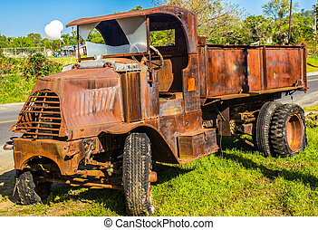 Vintage Truck With Extreme Rust