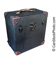 A carrying case for a vintage 16mm movie projector
