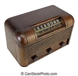 Vintage Antique Retro Radio with clipping path