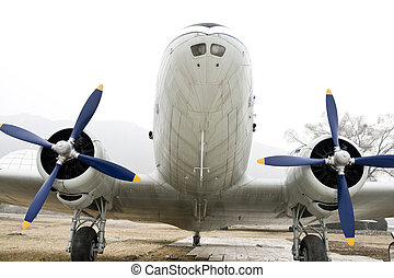Vintage Turboprop Airplane - Vintage turboprop airplane...