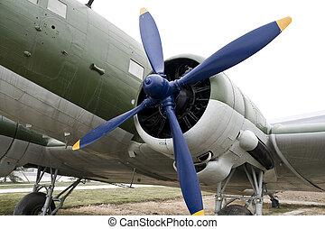 Vintage Turboprop Airplane - Vintage turboprop airplane...