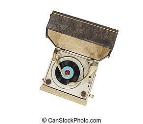 Vintage Turntable Portable Record Player Box