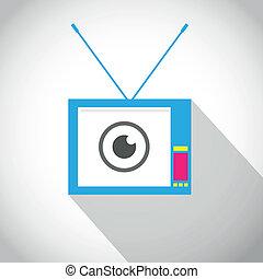 Vintage Tv Flat Icon
