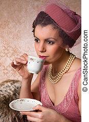 Vintage twenties lady