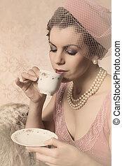 Vintage twenties woman