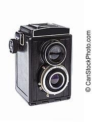 vintage twin-lens camera for roll film - The black vintage ...