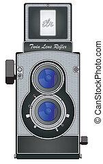 Twin Lens Reflex camera - vintage Twin Lens Reflex camera in...
